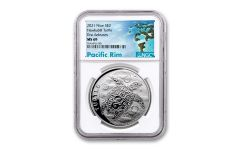 Niue 2021 $2 1oz Silver Hawksbill Turtle NGC MS69 First Release Exclusive Pacific Rim Label
