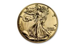 2021 $1 1-oz Type 2 Silver Eagle BU Clad w/24-Karat Gold
