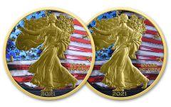 2021 American Silver Eagle Type 1 & Type 2 American Legacy Ennobling 2-pc Set Gem BU