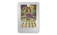 Niue 2021 Tarot Cards - The High Priestess 1 oz Colorized Proof Silver $2 Coin GEM Proof OGP