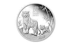 2022 Australia 50₵ 1/2-oz Silver Lunar Year of the Tiger Proof