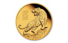 2022 Australia $15 1/10-oz Gold Lunar Year of the Tiger Proof
