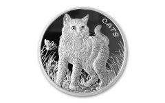 Fiji 2021 50 Cents 1oz Silver Cats Brilliant Uncirculated