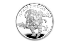 2022 Great Britain £2 1-oz Silver Lunar Year of the Tiger Proof