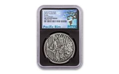 Tuvalu 2021 $1 1oz Silver Gods of Olympus Hades Antiqued NGC MS70 First Release Black Core w/ Pacific Rim Label