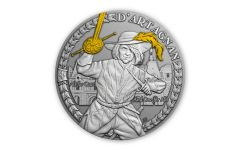 Niue 2021 $1 1oz Silver D'Artagnan and the Musketeer Gem BU