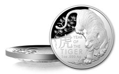 Australia 2022 $5 1oz Silver Year of the Tiger Domed Proof