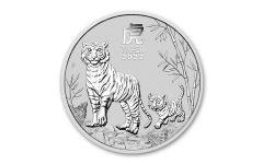 2022 Australia 50₵ 1/2-oz Silver Lunar Year of the Tiger BU