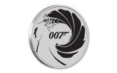 2022 Tuvalu $1 1-oz Silver James Bond BU