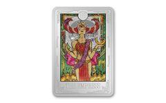 2021 Niue $2 1-oz Silver Tarot Cards – The Empress Colorized Gem Proof