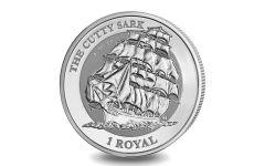 2021 BIOT 1 Royal 1-oz Silver Cutty Sark BU