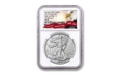 2021-W $1 1-OZ BURNISHED SILVER EAGLE T2 NGC MS70 First Releases Exclusive Eagle Label