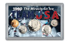 5PC 1980 MIRACLE ON ICE 1C TO 50C PROOF SET