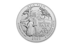 2020 America the Beautiful Quarter 5-oz Silver Weir National Historic Site Specimen