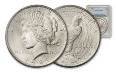 1923 Silver Peace Dollar NGC MS63