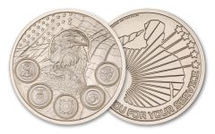 Intaglio Mint 2-oz Silver Military Appreciation Round Gem BU