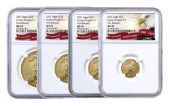 2021 $5–$50 Gold American Eagle NGC MS70 4-pc Set First Releases w/Eagle Label