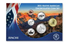 2021 CuNi Native American Apache Tribes Uncirculated 6-pc Set