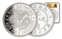 2020 China Kilo Silver Kiangnan Dragon Dollar NGC PF70UC First Day of Issue