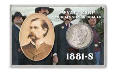 1881-S $1 MORGAN SILVER WYATT EARP BU 4X6