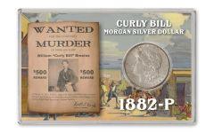 1882-P $1 MORGAN SILVER CURLY BILL BU 4X6