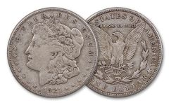 1921 $1 MORGAN SILVER FINE
