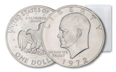 10PC 1972-D $1 EISENHOWER CLAD BU ROLL