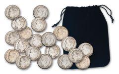 20PC BAG 1946-1964 10 CENT ROOSEVELT VG+