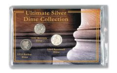 3PC 1892-1964 10 CENT ULTIMTE SILVER DIME COLLECTION (1H34)