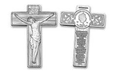 2021 Cameroon $2 1-oz Silver Lord's Prayer Crucifix-Shaped Coin BU