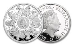 GB 2021 £2 1-oz Silver Queens Beast Completer Proof w/Original Government Packaging