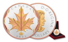 2021 Canada $50 5-oz Silver Maple Leaves in Motion Gem Proof