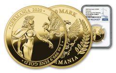 2020 Germania Mint 1 oz Gold Germania 100 Mark NGC PF70 FR