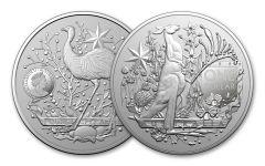 2021 Australia $1 1-oz Silver Coat of Arms BU