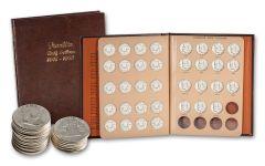 1948–1963 Franklin Silver Half Dollar 35-Coin Set AU w/Album