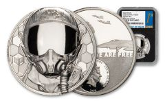 2020 Cook Islands $250 1-oz Platinum Real Heroes – Fighter Pilot Ultra High Relief Proof NGC PF70 First Day of Issue