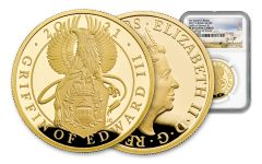 GB 2021 1OZ GOLD QUEEN BEAST GRIFFIN NGC PF69