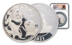 China 2021 150gm Silver Panda NGC Gem Proof FR – Tong Signature/Shenyang