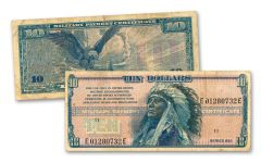 $10 1970-1973 CHIEF HOLLOW BEAR MPC F-VF