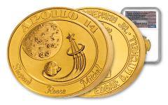 2021 1oz Gold Apollo 14 Robbins Medal NGC MS70