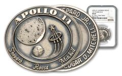 Apollo 14 Space-Flown Mission Robbins Medal #121 NGC MS68 w/Alan Bean Family Pedigree