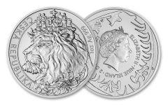 2021 Niue $2 1-oz Silver Czech Lion BU