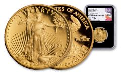 2021 $25 1/2-OZ GOLD EAGLE NGC PF70UC FDI MERCANTI BC