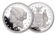 1878/1891 1-oz Silver Barber's Morgan Dollar Proof