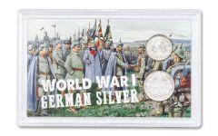 1914–1919 Germany Silver 1 & 1/2 Mark 2-pc Set AU–BU