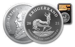 2021 1oz Silver Krugerrand NGC PF70UC - FR  BC Springbok