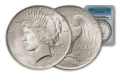 1922-P $1 PEACE NGC/PCGS MS65