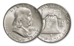 1955-P 50 CENT FRANKLIN BU