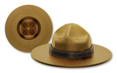 2020 Canada $25 1½-oz Silver Mountie Hat Shaped Gem Proof w/Gold Plating