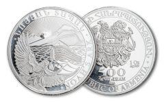 2021 Armenia 500 Dram 1-oz Silver Noah's Ark Coin Gem BU
